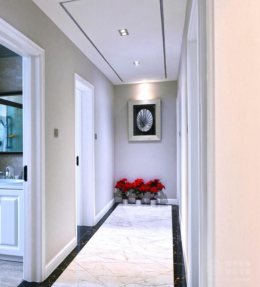 现代简约风格-中建溪岸观邸-复式-180平-玄关-装修实景效果图