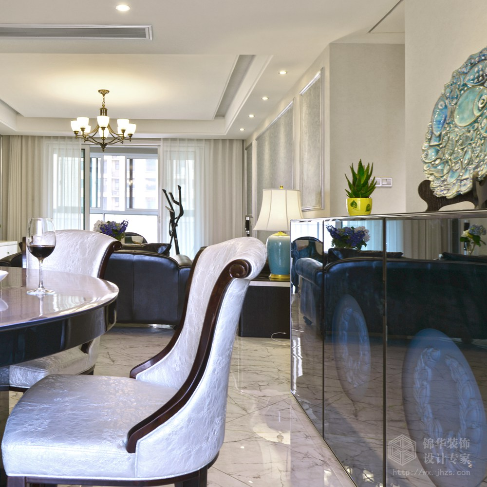 现代简约风格-中建溪岸观邸-复式-180平-餐厅-装修实景效果图