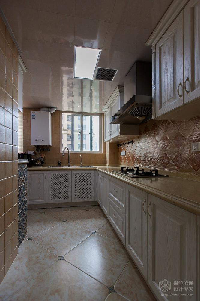 绿地波士顿126平三室二厅二卫地中海风格实景样板间装修-三室两厅-地中海