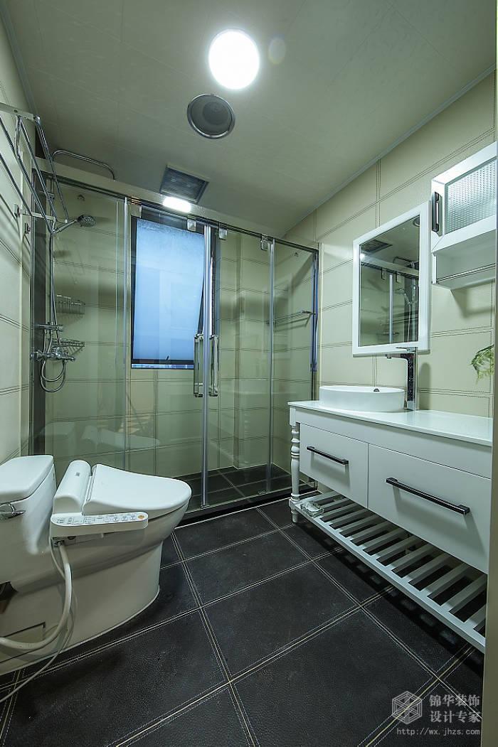 现代简约风格-中邦城市花园-三室两厅-129平米-卫生间-装修实景效果图