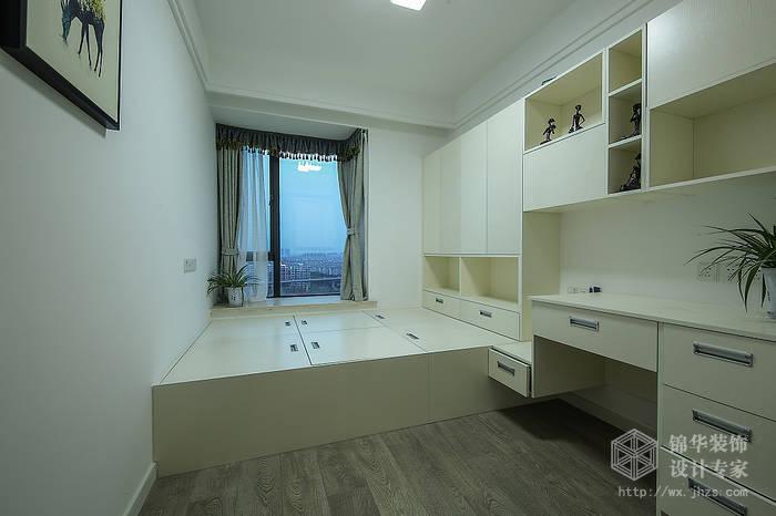 现代简约风格-中邦城市花园-三室两厅-129平米-榻榻米-装修实景效果图