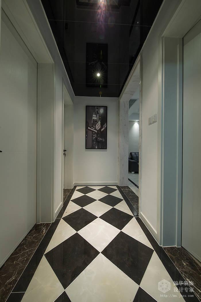 现代简约风格-中邦城市花园-三室两厅-129平米-过道-装修实景效果图