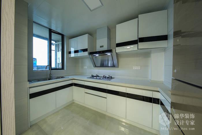 现代简约风格-中邦城市花园-三室两厅-129平米-厨房-装修实景效果图