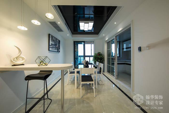 现代简约风格-中邦城市花园-三室两厅-129平米-餐厅-装修实景效果图