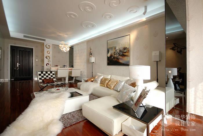 世茂国际130平三房两厅现代简约风格实景图