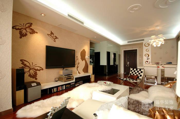 世茂国际130平三房两厅现代简约风格实景图装修-三室两厅-现代简约