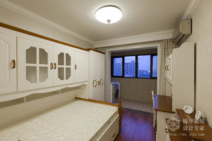 美式乡村风格-惠景家园-两室两厅-80平米-儿童房-装修效果实景图