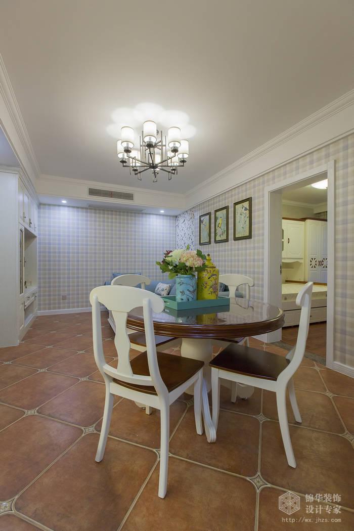 美式乡村风格-惠景家园-两室两厅-80平米-餐厅-装修效果实景图