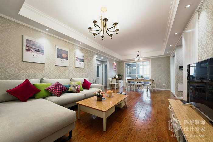时代上城繁华里118平三室两厅两卫现代简约风格实景图装修-三室两厅-现代简约