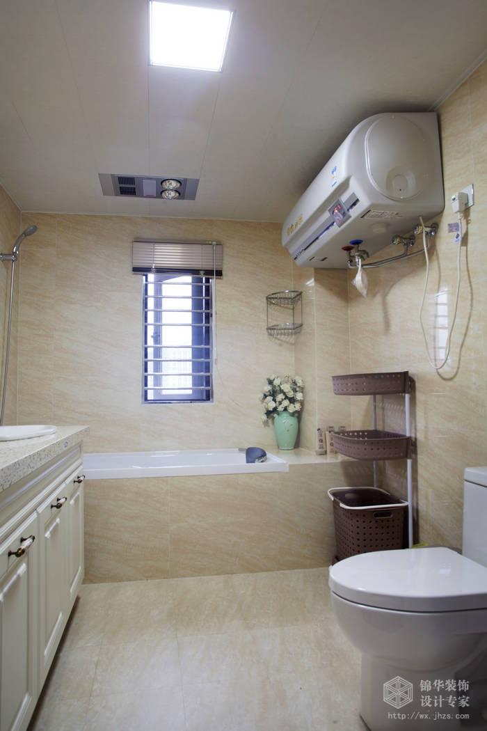 简欧风格-尚东雅园-四室两厅-185平-卫生间-装修实景效果图
