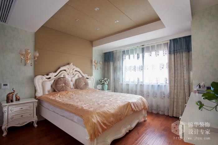 简欧风格-尚东雅园-四室两厅-185平-主卧-装修实景效果图