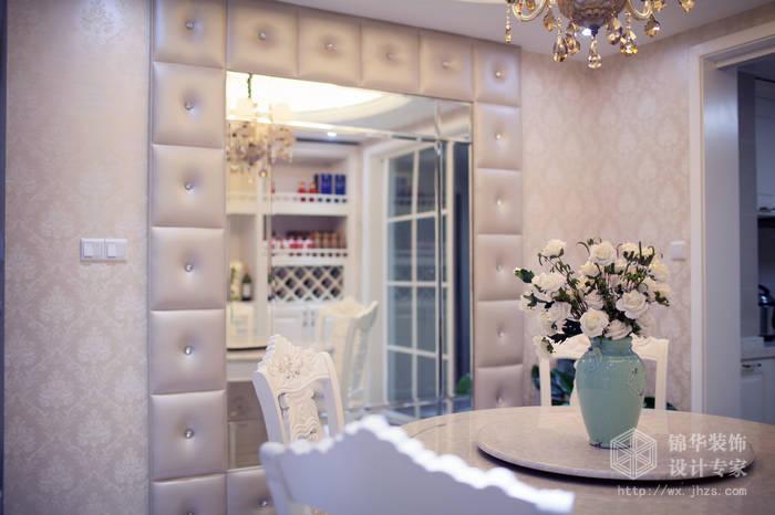 简欧风格-尚东雅园-四室两厅-185平-餐厅-装修实景效果图