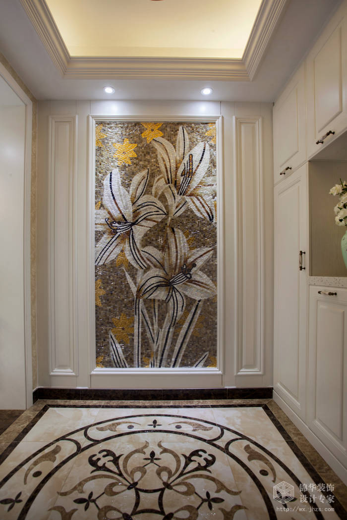 简欧风格-尚东雅园-四室两厅-185平-玄关-装修实景效果图