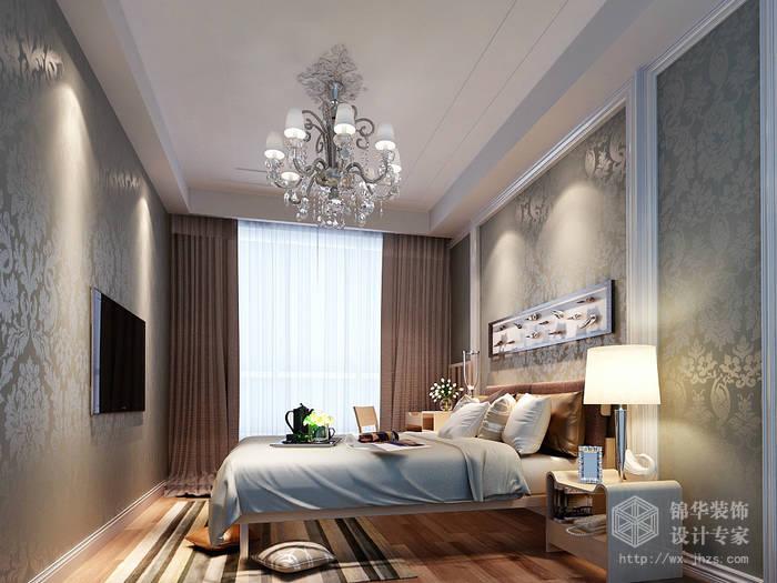 长江国际朗庭89平北欧风格效果图装修-两室两厅-简欧