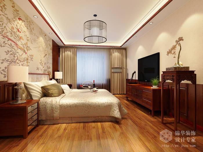 奥林匹克花园130平三房两厅一卫新中式风格效果图装修-三室两厅-新中式