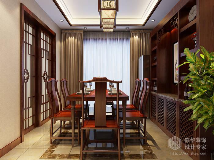 园130平三房两厅一卫新中式风格效果图装修 三室两厅装修效果图 新