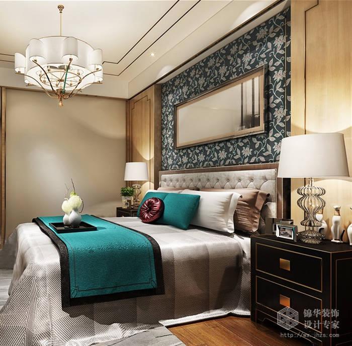 嘉州洋房161平四室三卫混搭风格效果图装修-大户型-混搭