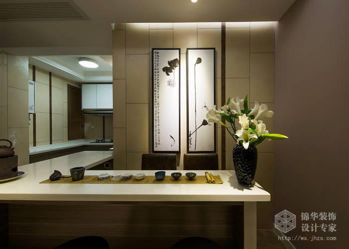 美新玫瑰49平新中式风格实景样板间装修-小户型-新中式