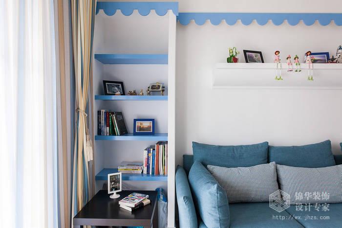 欧风新天地90平两室一厅地中海风格实景样板间装修-两室一厅-地中海