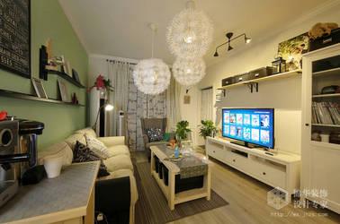 北欧风格-长江国际朗庭-两室两厅-89平-装修实景效果图