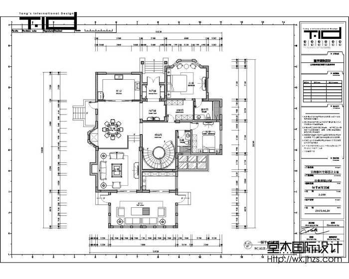 新中式风格-印象剑桥-别墅-500平-户型图-装修效果实景图