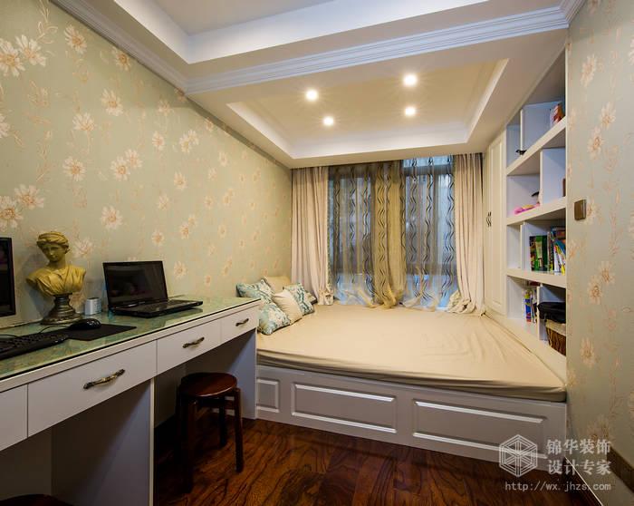 百大春城240平休闲美式风格实景样板间装修-跃层复式-美式田园