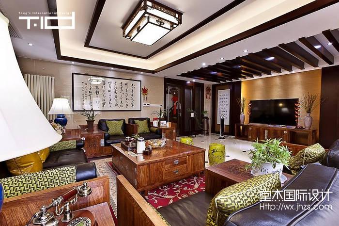 溪美墅400平新中式风格实景样板间装修 别墅图片大全 新中式风格