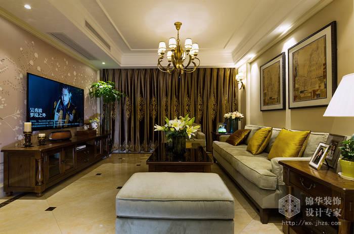 奕翔国际公寓89平简约美式风格实景样板间