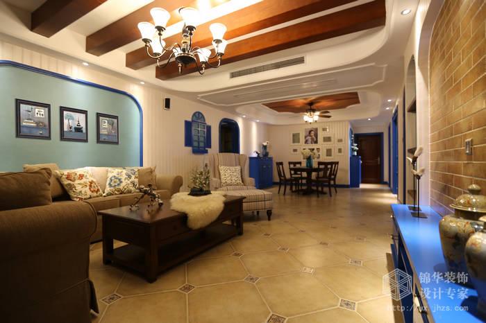 京梁合168平四室两厅两卫地中海风格实景样板间