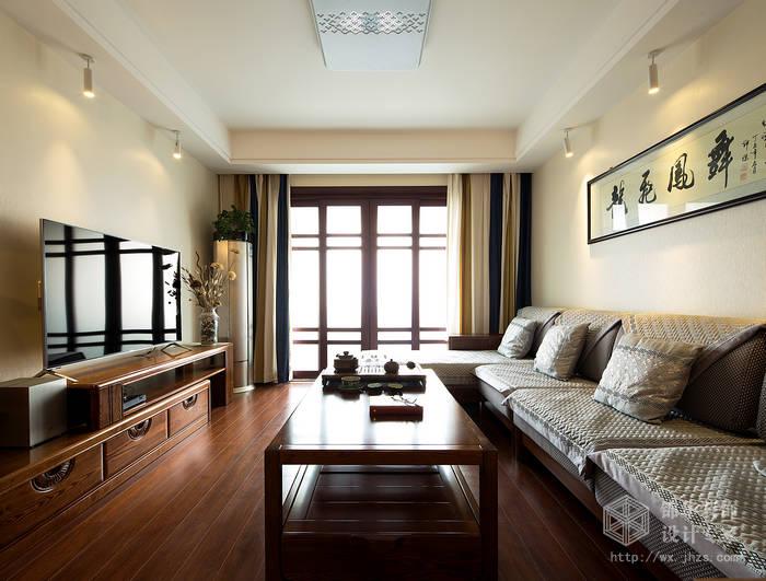 蠡湖家园99平新中式风格实景样板间