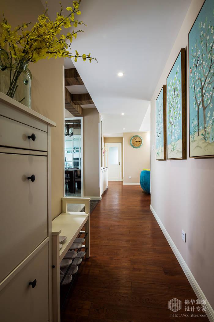 东宝康园106平现代美式风格实景样板间装修 三室两厅装修效果图 美式