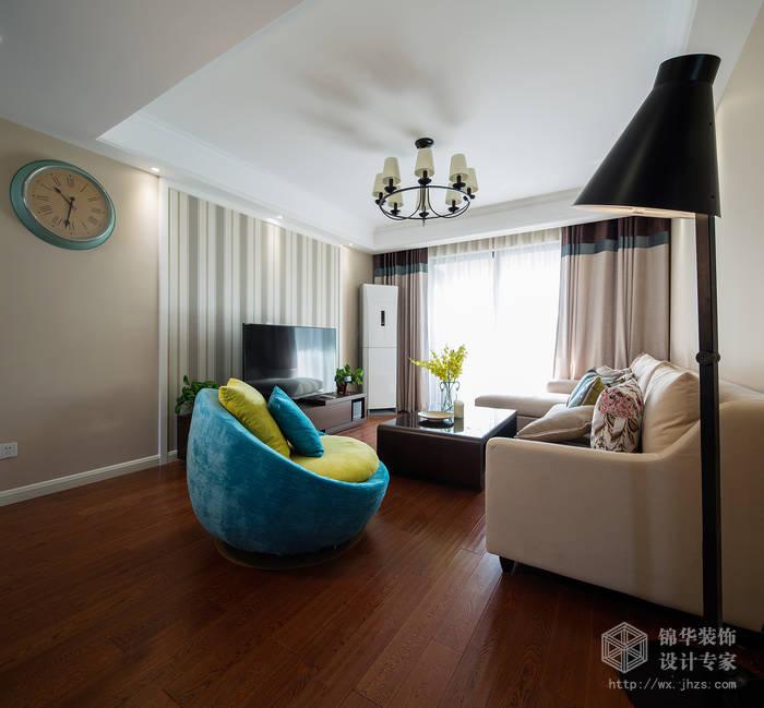 园106平现代美式风格实景样板间装修 三室两厅装修效果图 美式乡村