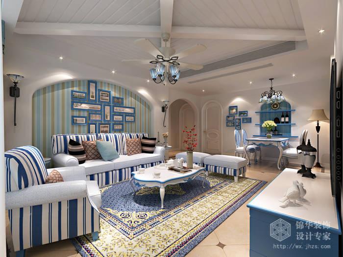 金太湖120平三室两厅一卫地中海风格效果图