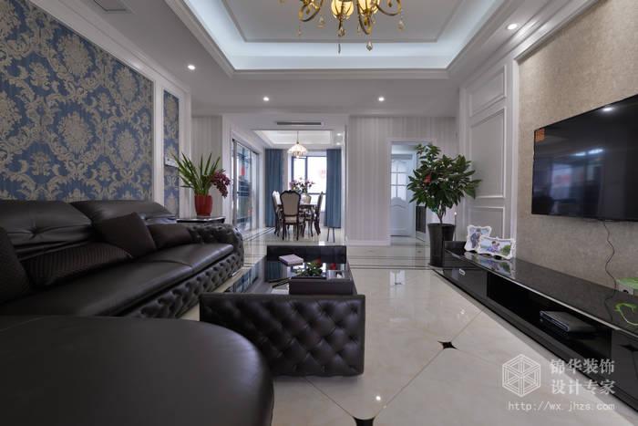 简欧风格-天鹅湖-三室二厅-130平-装修实景效果图