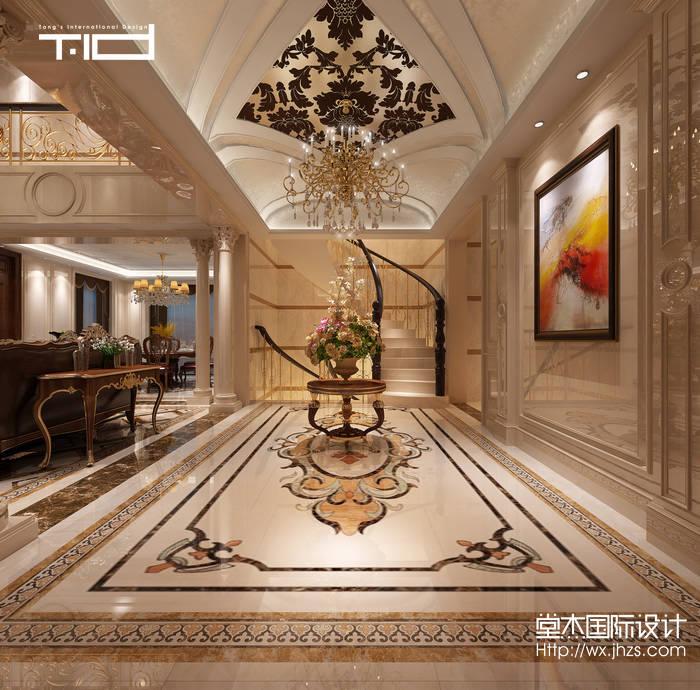 欧式风格-绿地香颂-别墅-450平方-装修效果图