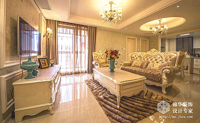 时代上城A区86平三室两厅一卫简欧风格实景图