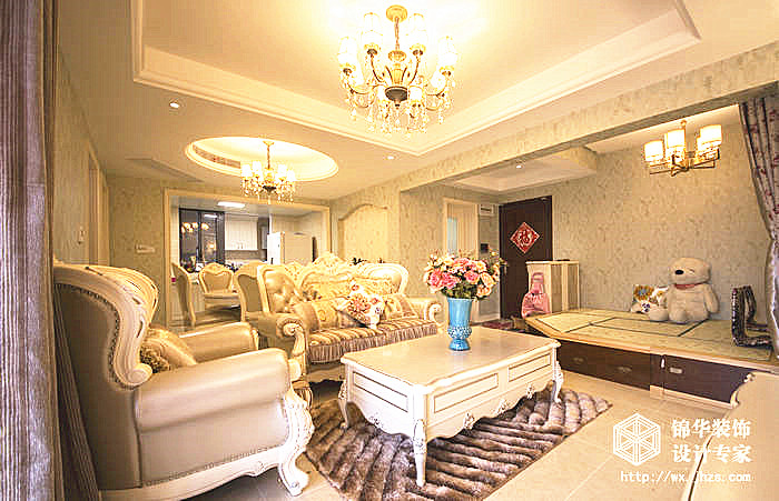 时代上城a区86平三室两厅一卫简欧风格实景图装修-三室一厅-简欧