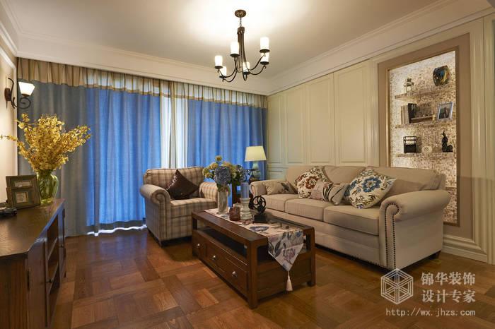 太湖国际130平 三室两厅两卫美式风格实景图