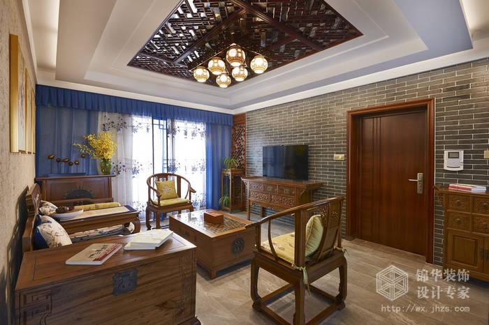 理想城市120三室两厅一卫中式风格实景图