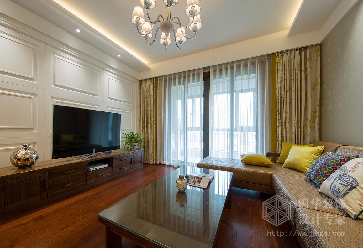 碧玺105平三室两厅现代简约风格实景图
