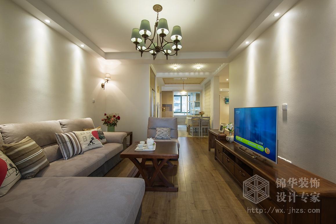银仁御墅99平两室两厅现代简约风格实景图