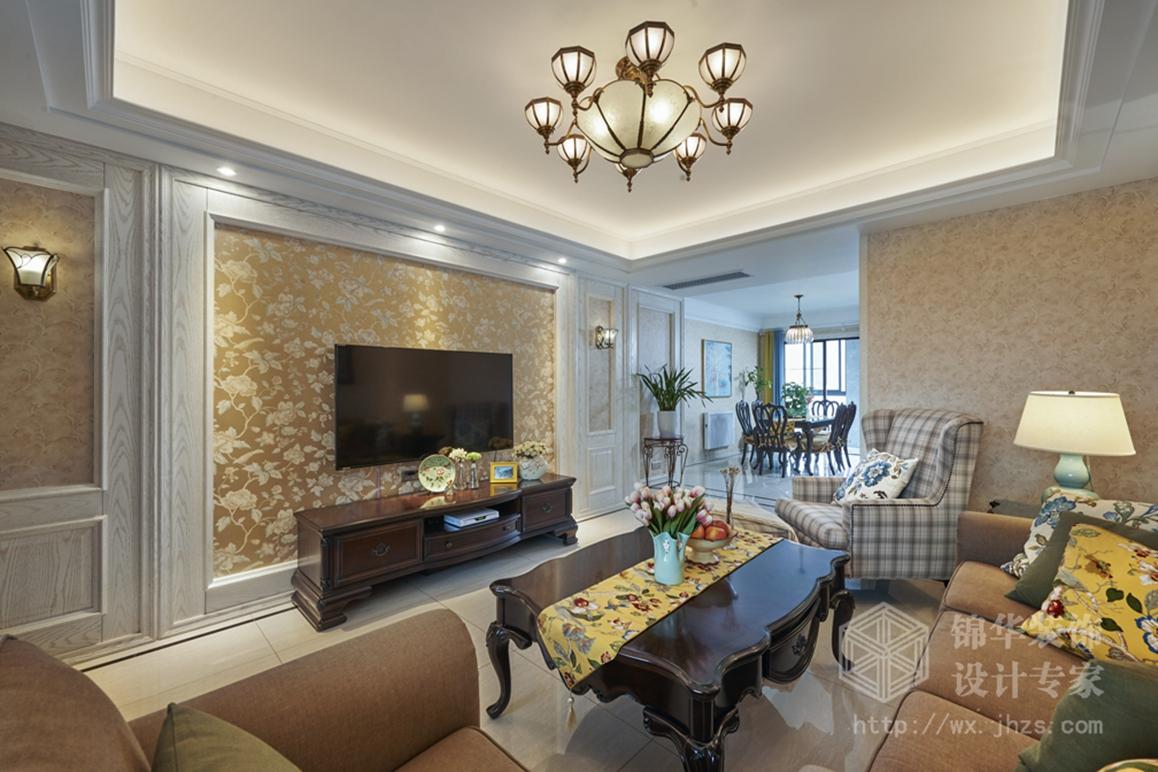 新世纪公寓170平三室两厅两卫美式风格实景图