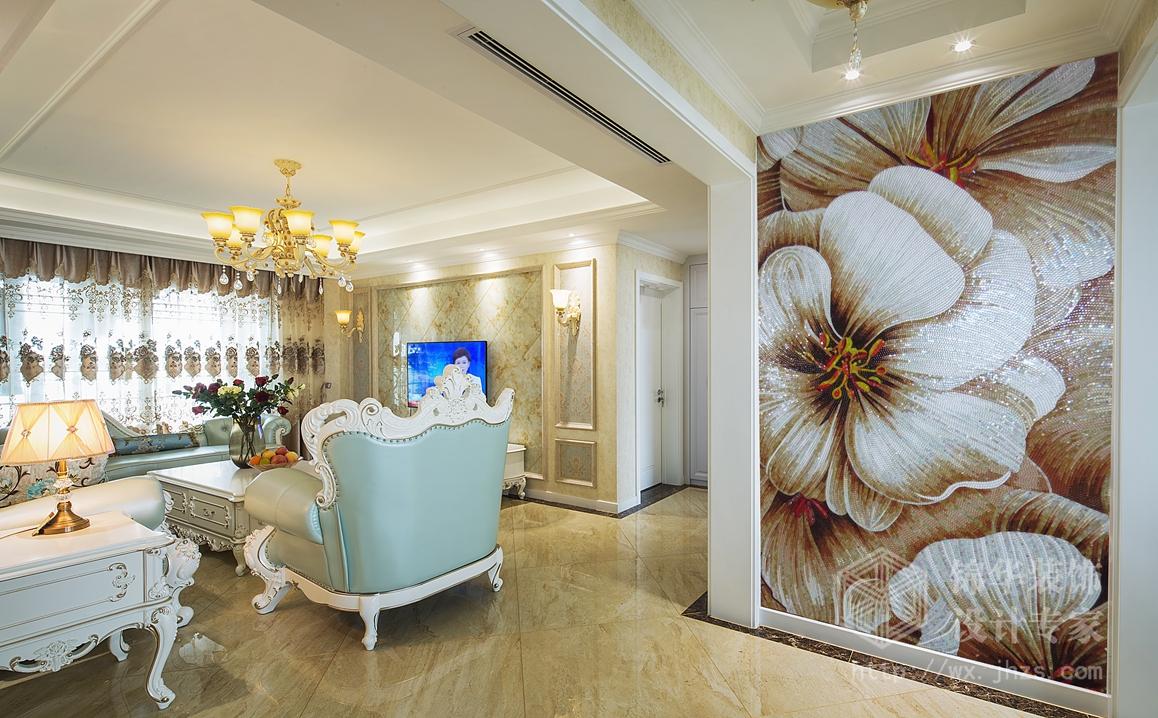简欧风格-龙湖九里香醍-三室两厅-130平-装修实景效果图