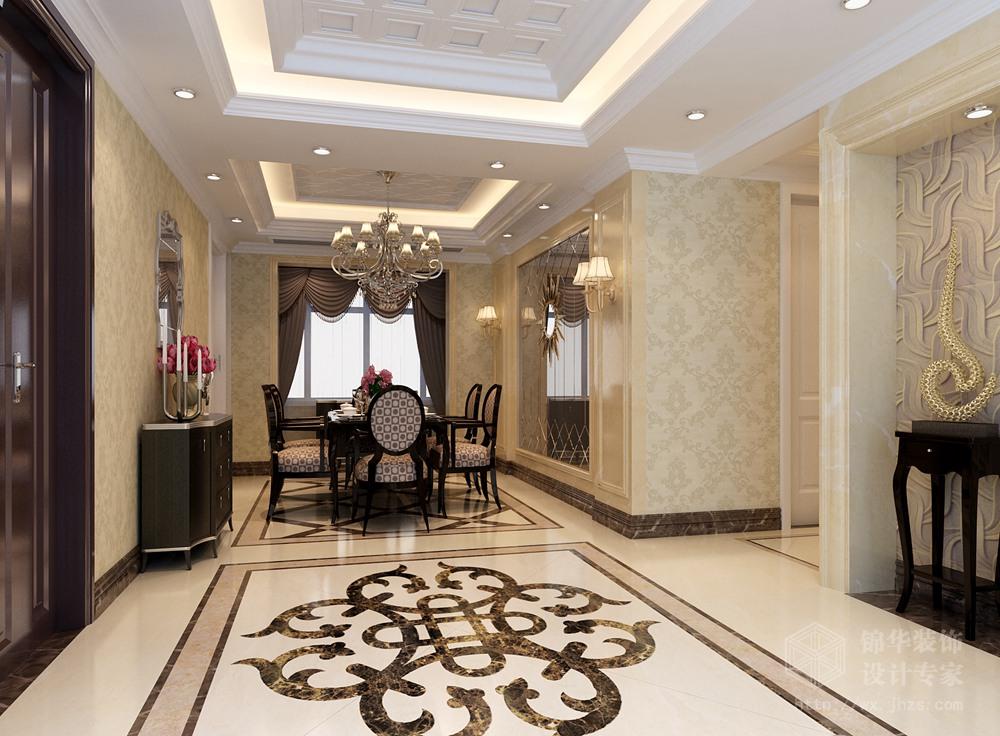 华仁凤凰城160平米三室两厅两卫简欧风格效果图装修-三室两厅-简欧图片