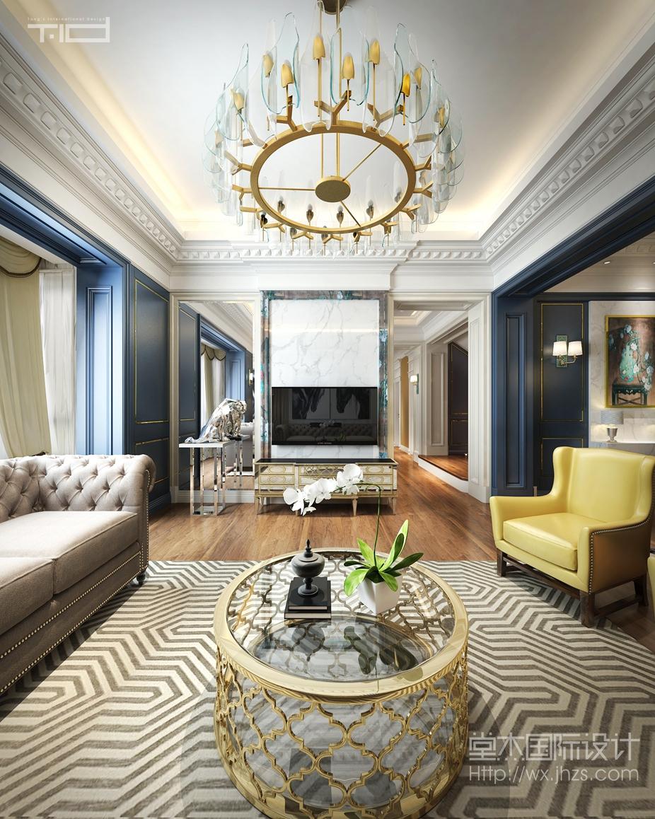 和园中式风格大宅装修 大户型 新中式 无锡锦华装饰