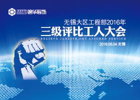 【锦华装饰无锡大区工程部】2016年三级评比工人大会