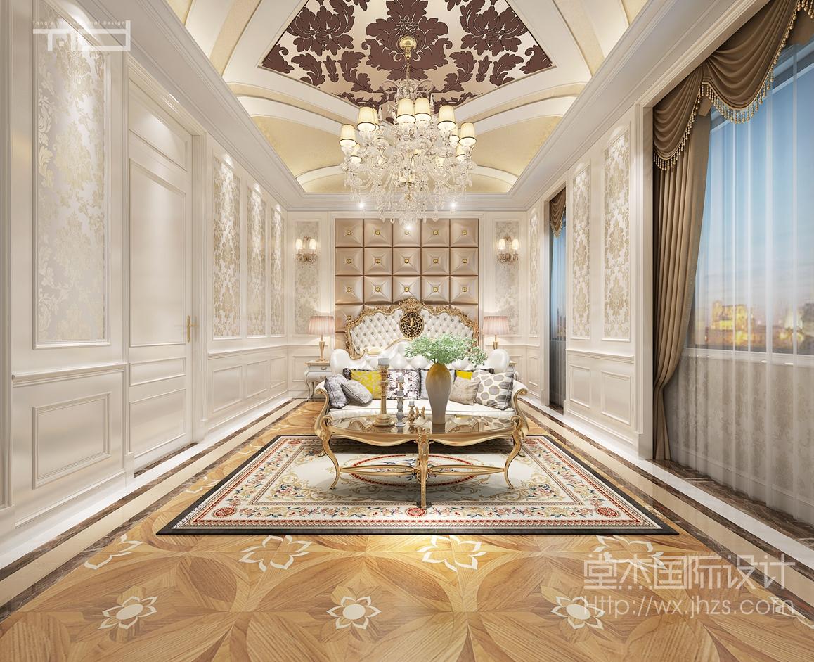 欧式风格-金丰观湖铂庭-别墅-800平-装修效果图
