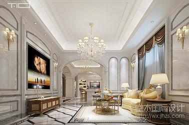 欧式风格-御景华庭-别墅-500平-装修效果图