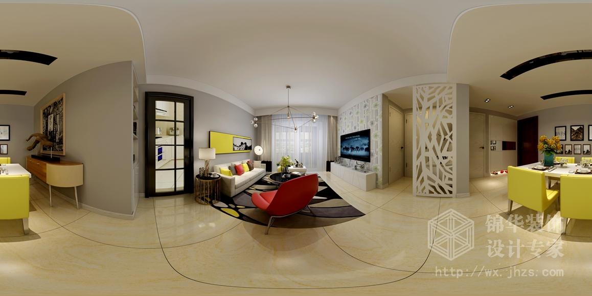 小户型客厅欧式墙布装修效果图