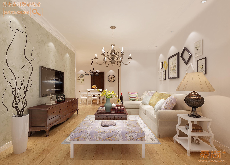 凯发苑120平现代简约风格效果图装修-三室两厅-现代简约